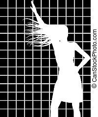 Female Silhouette in White