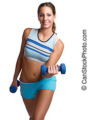 Woman Working Out - Beautiful smiling woman working out