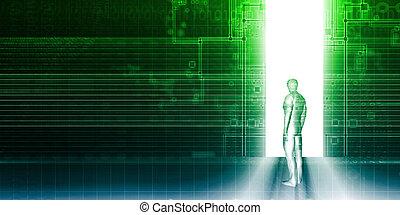 Digital Portal Gateway Access Door or Doorway to Technology