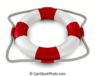 lifebuoy on white background. Isolated 3D image