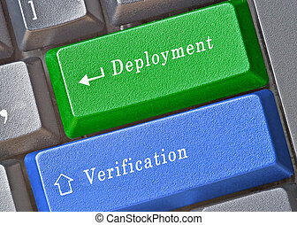 Keyboard with keys for deployment and verification