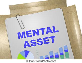 Mental Asset - business concept - 3D illustration of 'MENTAL...
