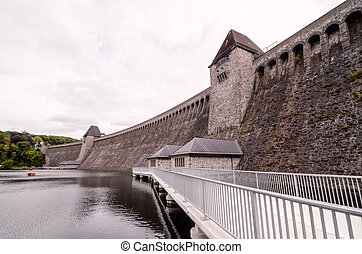 German Water Dam - Mohnesee Westfalia Delecke European...