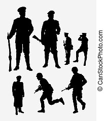 Soldier, army and police silhouette. Good use for symbol,...