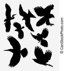 02 flying bird.eps - Bird flying silhouette. good use for...