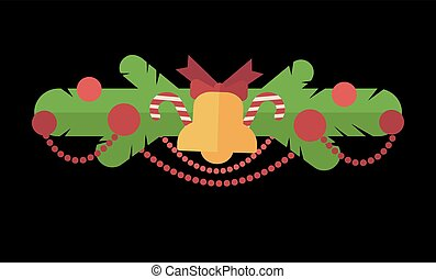 Christmas design template card. Vector background