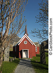 The Flakstad kirke in Norge