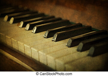 Black and white piano keys, music concept