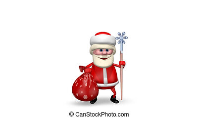 Santa Claus with His Staff - Animation Santa Claus with His...