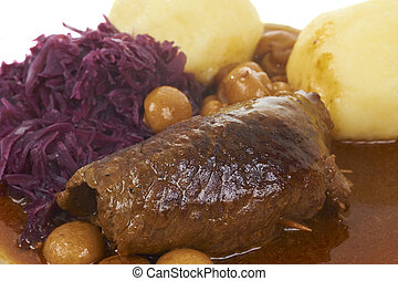 Bavarian Food - Raditional Bavarian Meal Withe Beef Roll And...