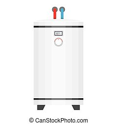 electric water heater. boiler in the flat style, vector...