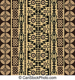 Ethnic african symbols, texture with traditional ornaments