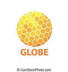 vector logo globe - Template design logo globe. Vector...