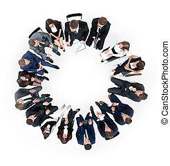 concetto, diversità, affari, Persone,  coorporate, squadra, riunione