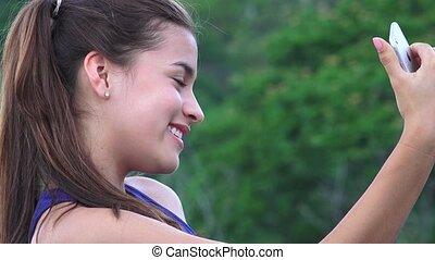 Teen Girl Taking Selfy