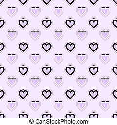 Purple heart seamless pattern packaging paper background in...
