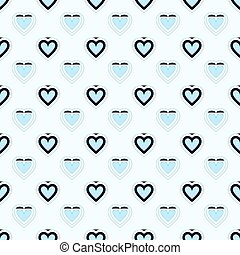 Baby blue heart seamless pattern packaging paper background...