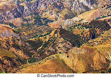 Aspromonte hills - Colorfull dry hills of Aspromonte with...