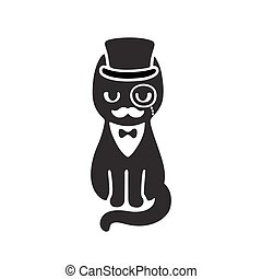 Tuxedo cat in top hat