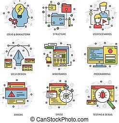 Web Development Line Concept - Web development line concept...
