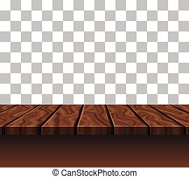 Empty Wooden Tabletop - Empty wooden tabletop of brown color...