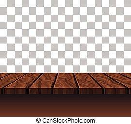 Empty Wooden Tabletop - Empty wooden tabletop of brown color...