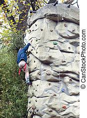 攀登, 岩石, 牆