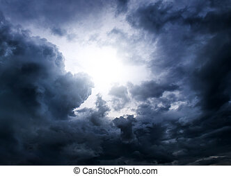 Dramatic Clouds Background - Light in the Dark and Dramatic...