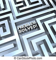 Maze - Problem Solved - A maze containing the words -...