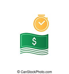 Time is money, finance concept, bank savings account,...