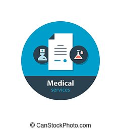 Medical analysis, annual check up, health insurance concept,...