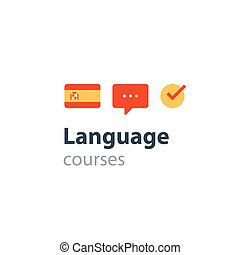 Spanish as a second language. Fluent speaking, foreign...