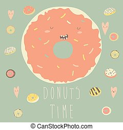 Vector illustration of donut with glaze