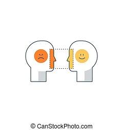 Emotional intelligence concept, psychology communication,...