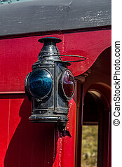 Marker Light - A marker light on the side of a narrow gauge...
