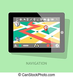 Tablet With Navigation Interface - Tablet with navigation...