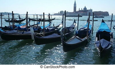 Venice, Italy - SEPTEMBER 8, 2016. View to San Giorgio...