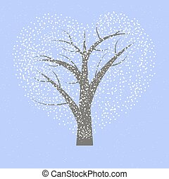 tree with heart-shaped crown