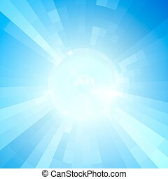 Blue virtual technology vector background.