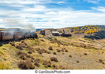 At Osier Station - A Cumbres & Toltec steam locomotive...