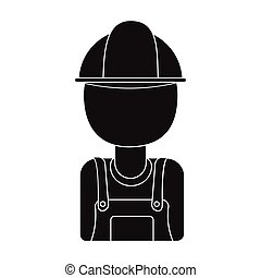 Oil worker icon in black style isolated on white background. Oil industry symbol stock vector illustration.