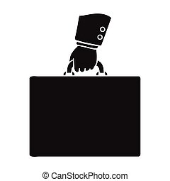 Briefcase icon in black style isolated on white background....