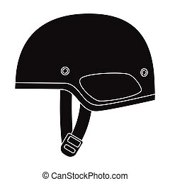 Army helmet icon in black style isolated on white background. Military and army symbol stock vector illustration