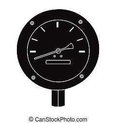 Oil manometer icon in black style isolated on white background. Oil industry symbol stock vector illustration.