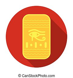 Eye of Horus icon in flat style isolated on white background. Ancient Egypt symbol stock vector illustration.