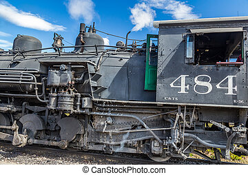 Cumbres & Toltec locomotive - A steam locomotive belonging...