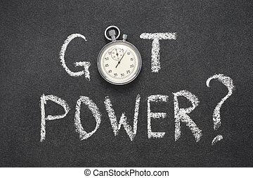 got power watch - got power question handwritten on...