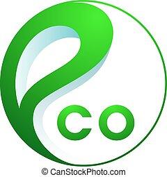 Abstract eco logo. - Eco logo. Abstract green ecology logo.