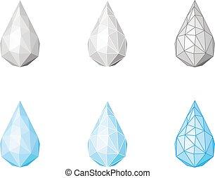 Set of water drops.