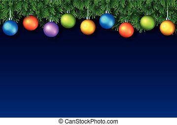 Christmas or New Year Background with place for text. Vector...